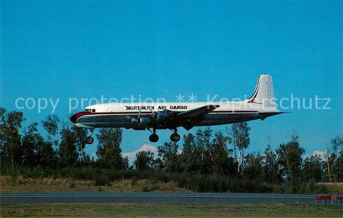 AK / Ansichtskarte Flugzeuge_Zivil Northern Air Cargo Douglas DC 6A N1027N c n 43580 Flugzeuge Zivil