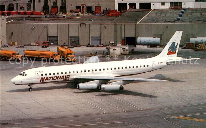 AK / Ansichtskarte Flugzeuge_Zivil Nationair Canada McDonnell Douglas DC 8 62 C GMXR MSN 45925 Flugzeuge Zivil