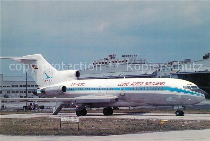AK / Ansichtskarte Flugzeuge_Zivil LAB Lloyd Aereo Boliviano Boeing 727 171C CP 1070 c n 19860 599 Flugzeuge Zivil