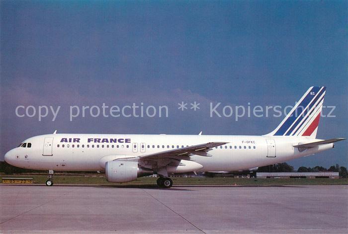 AK / Ansichtskarte Flugzeuge_Zivil Air France Airbus A320 110 F GFKC c n 009 Flugzeuge Zivil