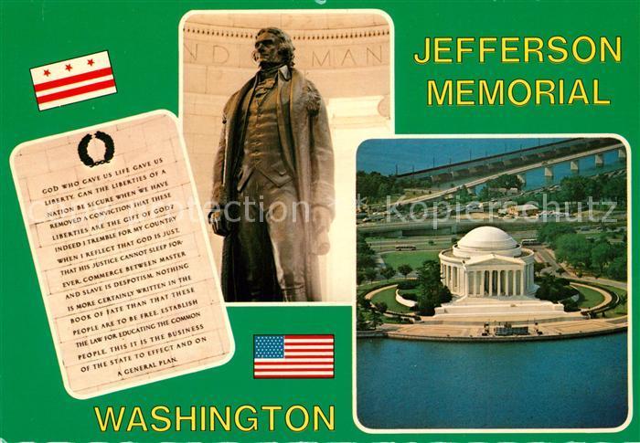 AK / Ansichtskarte Denkmal Jefferson Memorial Washington  Denkmal