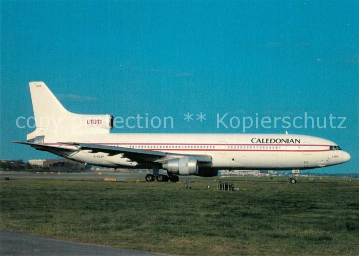AK / Ansichtskarte Flugzeuge_Zivil Caledonian Lockheed L 1011 385 1 Tristar 50 G CEAP cn 193N 1145 Flugzeuge Zivil