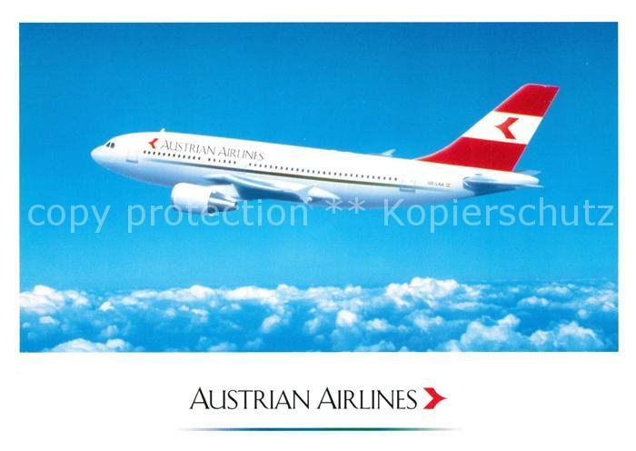 AK / Ansichtskarte Flugzeuge_Zivil Austrian Airlines Airbus A 310 Flugzeuge Zivil