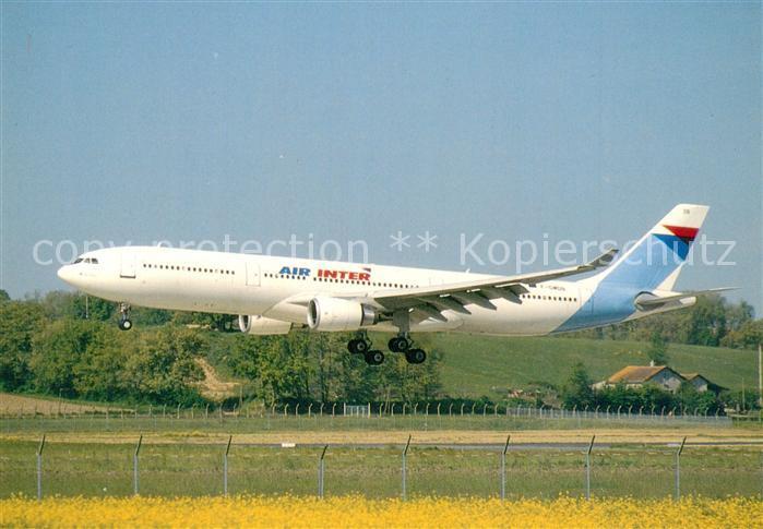 AK / Ansichtskarte Flugzeuge_Zivil Air Inter Airbus Industrie A330 301 F GMDB c n 037 Flugzeuge Zivil