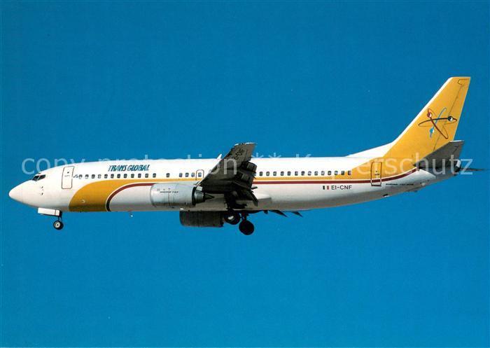 AK / Ansichtskarte Flugzeuge_Zivil Transglobal Boeing B 737 4YO EI CNF c n 25180 Flugzeuge Zivil