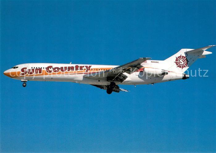 AK / Ansichtskarte Flugzeuge_Zivil Sun Country Boeing B 727 225 N283SC c n 22559 1800 Flugzeuge Zivil