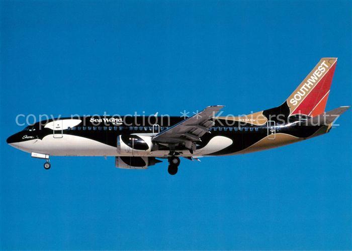 AK / Ansichtskarte Flugzeuge_Zivil Southwest Airlines Boeing B 737 3H4 N334SW c n 23938 1549 Flugzeuge Zivil