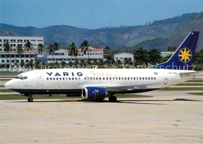 AK / Ansichtskarte Flugzeuge_Zivil Varig B737 341 PP VPA c n 26852 2273 Flugzeuge Zivil