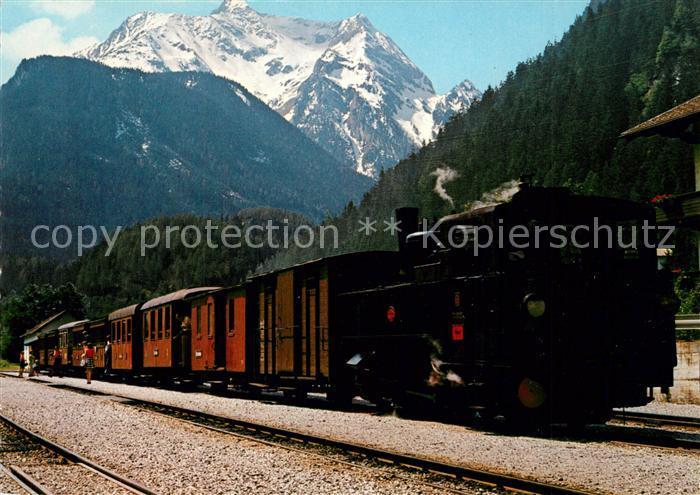 AK / Ansichtskarte Lokomotive Zillertalbahn Gruenberg Lokomotive