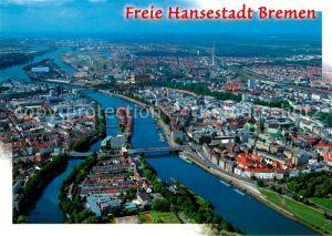 AK / Ansichtskarte Bremen Hansestadt Fliegeraufnahme Bremen