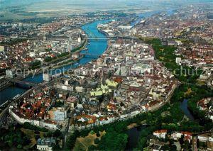 AK / Ansichtskarte Bremen Hansestadt Blick ueber die City Fliegeraufnahme Bremen