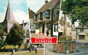 AK / Ansichtskarte Alfriston High Street St Andrews Church Market Square Alfriston