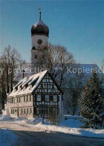 AK / Ansichtskarte Westerheim_Wuerttemberg Haus des Gastes und St Stephanus Kirche Westerheim_Wuerttemberg