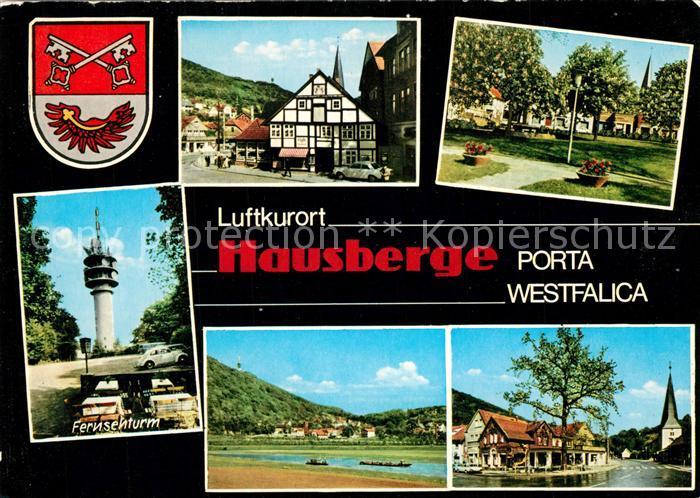AK / Ansichtskarte Hausberge Fernsehturm Fachwerkhaus Park Hausberge