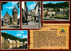 AK / Ansichtskarte Altena_Lenne Burg Lennestrasse Stadtmitte Lennepartie Altena_Lenne
