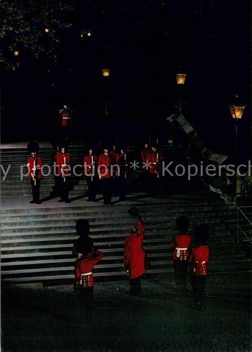 AK / Ansichtskarte London Tower Ceremony of the Keys at night London