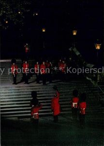 AK / Ansichtskarte London Tower Ceremony of the Keys at night London