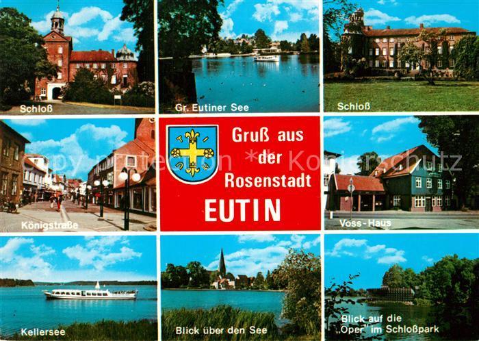 AK / Ansichtskarte Eutin Schloss Gr Eutiner See Koenigstrasse Voss Haus Kellersee Oper im Schlosspark Eutin