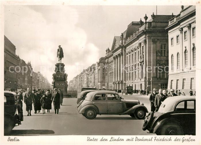Berlin Unter den Linden mit Denkmal Friedrich des Grossen Berlin