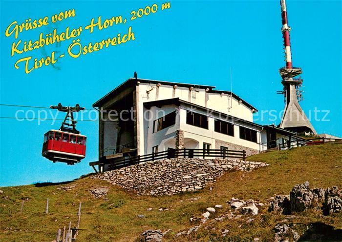 AK / Ansichtskarte Seilbahn Kitzbueheler Horn Gipfelhaus Restaurant  Seilbahn