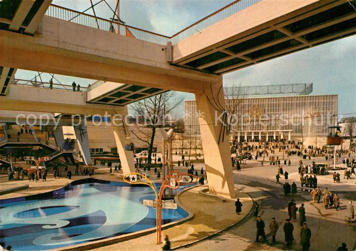 AK / Ansichtskarte Exposition_Universelle_Bruxelles_1958 Rond Point des Nations Exposition_Universelle