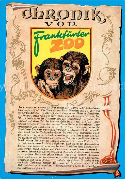 AK / Ansichtskarte Affen Chronik Frankfurter Zoo  Affen