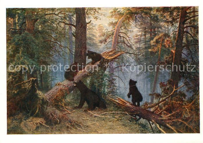 AK / Ansichtskarte Kuenstlerkarte Kuenstler I. I. Schischkin  Kuenstlerkarte