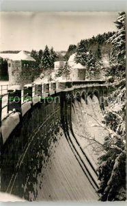 AK / Ansichtskarte Fuerwiggetalsperre Staumauer im Winter Fuerwiggetalsperre