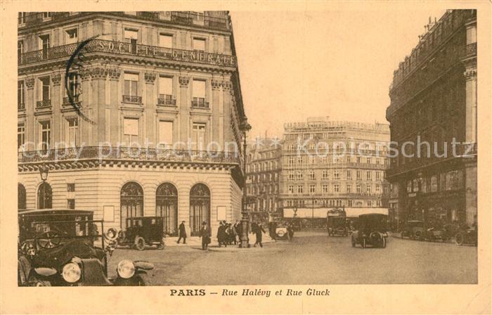AK / Ansichtskarte Paris Rue Halevy et Rue Gluck Paris