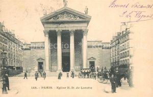 AK / Ansichtskarte Paris Eglise N. D. de Lorette Paris