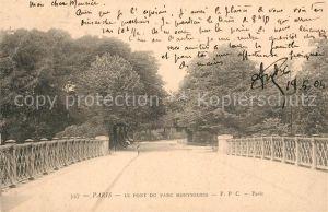 AK / Ansichtskarte Paris Pont du Parc Montsouris Paris