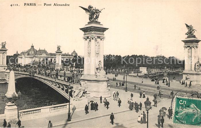 AK / Ansichtskarte Paris Pont Alexandre Paris
