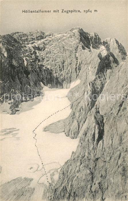 AK / Ansichtskarte Zugspitze Hoellentalferner Zugspitze