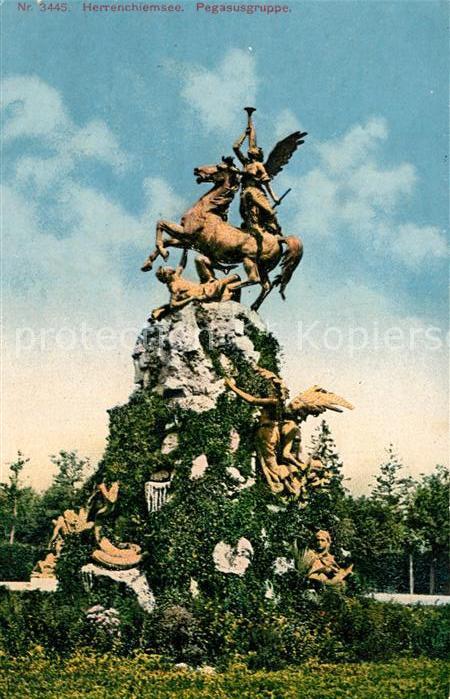 AK / Ansichtskarte Herrenchiemsee Pegasusgruppe Herrenchiemsee