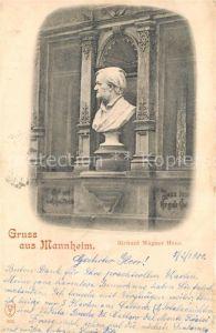 AK / Ansichtskarte Mannheim Richard Wagner Haus und Bueste Mannheim