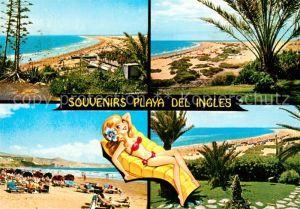 AK / Ansichtskarte Playa_del_Ingles_Gran_Canaria Panorama Strand Badenixe Playa_del