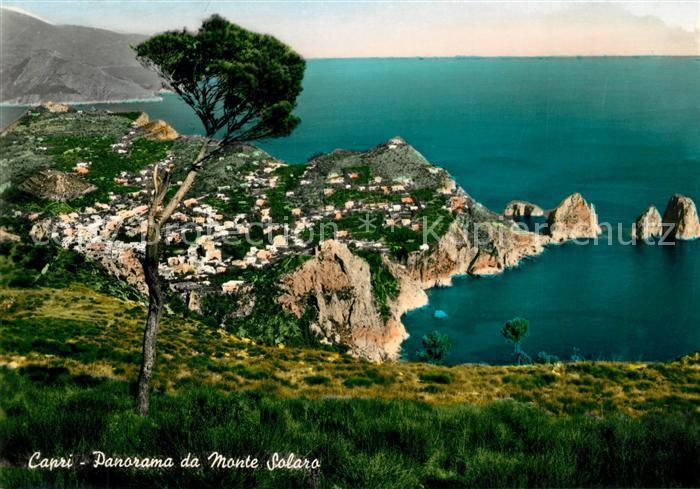 AK / Ansichtskarte Capri Panorama da Monte Solaro Capri