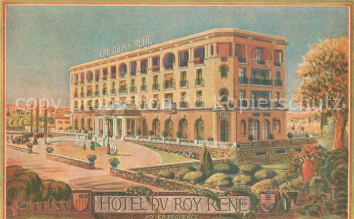 AK / Ansichtskarte Aix en Provence Hotel du Roy Rene Aix en Provence