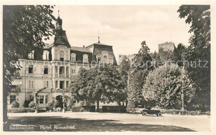 AK / Ansichtskarte Badenweiler Hotel Roemerbad Badenweiler