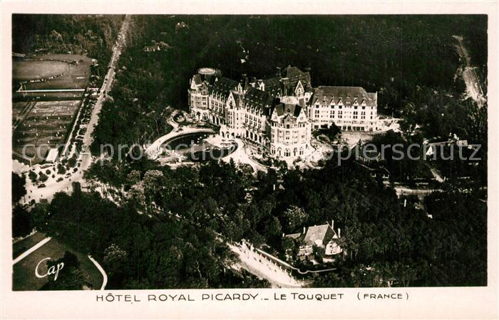 AK / Ansichtskarte Le_Touquet Paris Plage Fliegeraufnahme Hotel Royal Picardy Le_Touquet Paris Plage