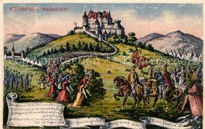 AK / Ansichtskarte Weinsberg Weibertreu Belagerung der Burg durch Kaiser Konrad Weinsberg