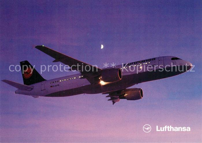 AK / Ansichtskarte Lufthansa Airbus A320 200 Lufthansa