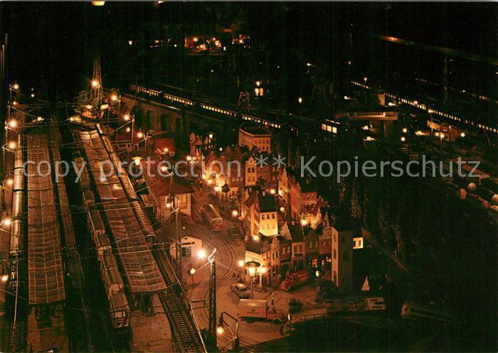 AK / Ansichtskarte Modellbau Eisenbahn Maerklin HO Anlage M. Frickenschmidt Modellbau Eisenbahn