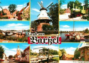 Barssel Moormuseum Elisabethfehn Anleger Muehle Museumsbahn Anleger Hafen BarBel Dreibruecken Bei der Windmuehle Barssel