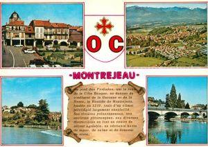 Montrejeau_Haute Garonne Place Valentin Abeille Vue generale aerienne Castel Joly Gourdan Polignan le Pont sur la Garonne Montrejeau Haute Garonne