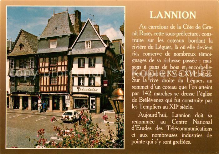 Lannion Vieilles maisons de la place du Centre Lannion