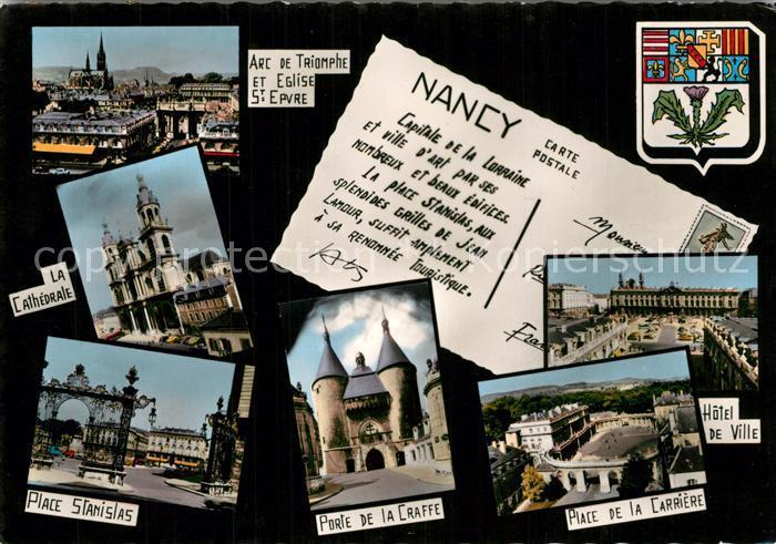 Nancy_Lothringen Arc de Triomphe Cathedrale Place Stanislas Porte de la Craffe Place de la Carriere Hotel de Ville Nancy Lothringen