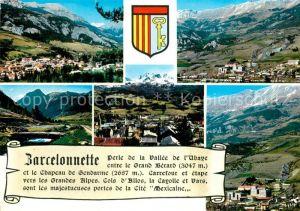 Barcelonnette Vue generale Les Alpes Paturage Le Chapeau de Gendarme Les Casernes Barcelonnette