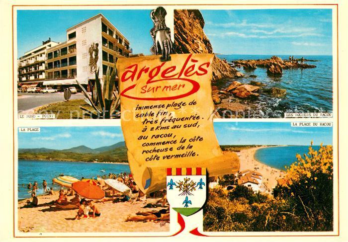 Argeles sur Mer Le Rond Point La Plage de Racou Les Rochers du Racou Argeles sur Mer