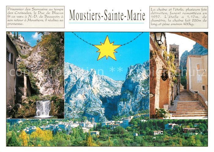 Moustiers Sainte Marie Vue partielle Moustiers Sainte Marie